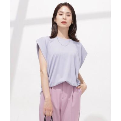 Anti Soaked 汗染み防止 タックTシャツ ノースリーブ L.ブルー1