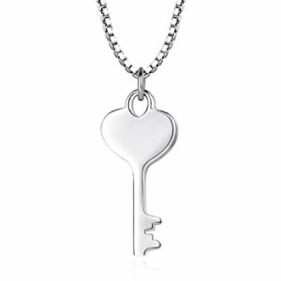 Cute Key Necklaces for Women and Couples - 925 Sterling Silver Charm Key Necklace Chain for EGirls