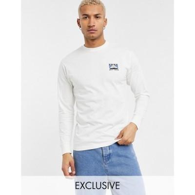 ヴァンズ Vans メンズ 長袖Tシャツ トップス Mountain back print long sleeve t-shirt in cream