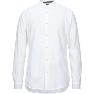 ジャック アンド ジョーンズ JACK & JONES メンズ シャツ トップス solid color shirt White