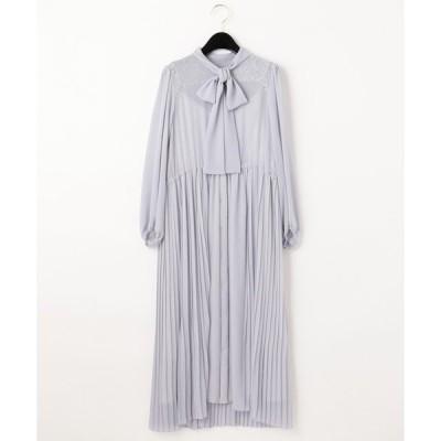【グレースコンチネンタル】ボウタイプリーツドレス