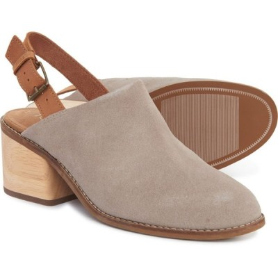 トムス TOMS レディース シューズ・靴 Taupe Desert Leila Slingback Shoes - Suede Taupe