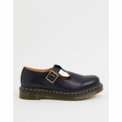 ドクターマーチン Dr Martens レディース スリッポン・フラット シューズ・靴 Polly mary jane flat shoes in black ブラック