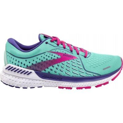 ブルックス Brooks レディース ランニング・ウォーキング シューズ・靴 Adrenaline GTS 21 Running Shoes Green/Pink