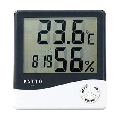 カクセー 温度計 ホワイト 約10.6×9.8×2.2cm PT-02