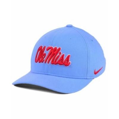 ナイキ メンズ 帽子 アクセサリー Ole Miss Rebels Classic Swoosh Cap SkyBlue