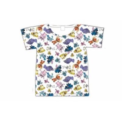 【ディズニーキャラクター】Tシャツ【L】【パターン】【エイリアン】【スティッチ】【リロアンドスティッチ】【すてぃっち】【ディズニー