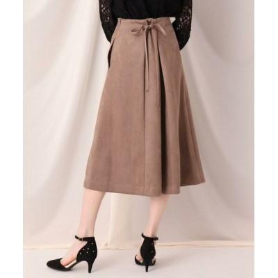 Couture Brooch/クチュールブローチ フェイクスエードサス付きスカート タバコブラウン(054) 40(L)