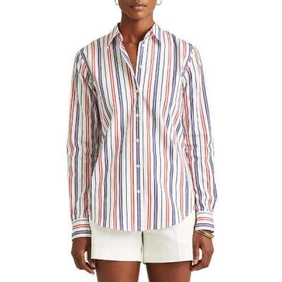 ラルフローレン カットソー トップス レディース Women's Striped Cotton Broadcloth Shirt -