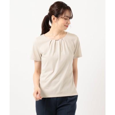any SiS 【UVケア】コンフォートモダールベーシック クルーネック Tシャツ (グレージュ)