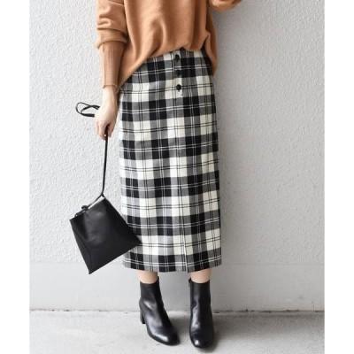 SHIPS for women / シップスウィメン タータンチェックタイトスカート◇