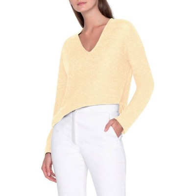 アクリス レディース ニット・セーター アウター Sequin V-Neck Easy Sweater