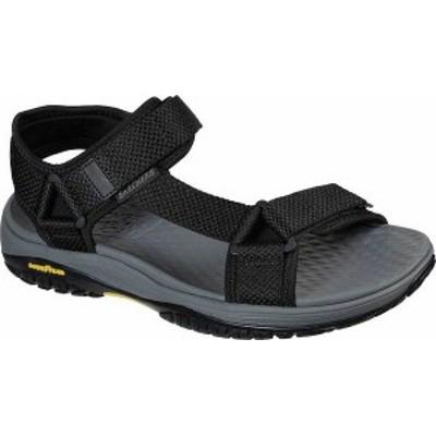 スケッチャーズ メンズ サンダル シューズ Men's Skechers Relaxed Fit Lomell Rip Tide Active Sandal Black