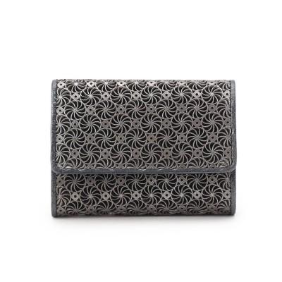 ヒロコ ハヤシ HIROKO HAYASHI GIRASOLE(ジラソーレ) ミニ三つ折財布 (ブラック)