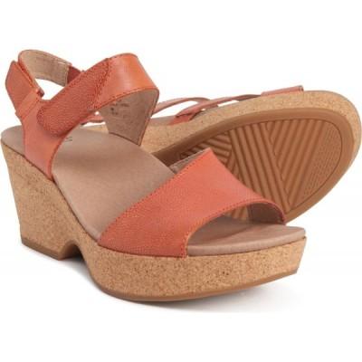 カルソーアースシューズ Earth レディース サンダル・ミュール ウェッジソール シューズ・靴 Khaya Kella Wedge Sandals Orange
