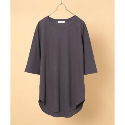 tシャツ Tシャツ ワッフル5分袖プルオーバー