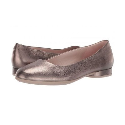 ECCO エコー レディース 女性用 シューズ 靴 フラット Anine Ballerina - Stone Metallic Cow Leather