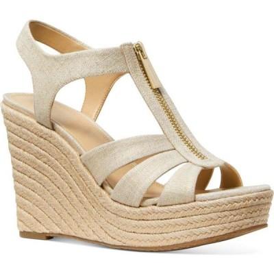 マイケル コース Michael Kors レディース エスパドリーユ ウェッジソール シューズ・靴 Berkley Espadrille Wedge Sandals Pale Gold