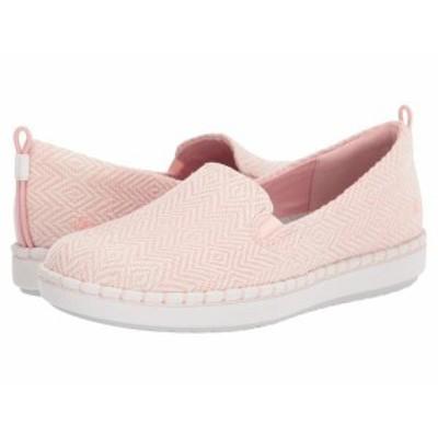 クラークス レディース スニーカー シューズ Step Glow Slip Pink/White Textile