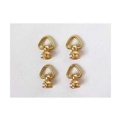レザークラフト 真鍮 ドロップハンドル ジョイント パーツ 4個 セット (ゴールド) (