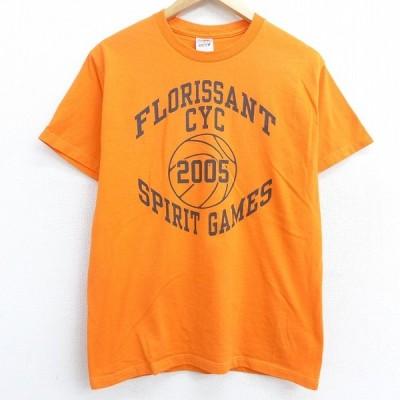 M/古着 半袖 ビンテージ Tシャツ 00s バスケットボール フローリッサント 3 クルーネック オレンジ 21apr02 中古 メンズ