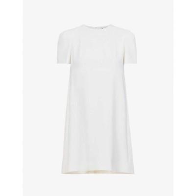 アレキサンダー マックイーン ALEXANDER MCQUEEN レディース パーティードレス ミニ丈 ワンピース・ドレス Cape-back wool mini dress Soft White