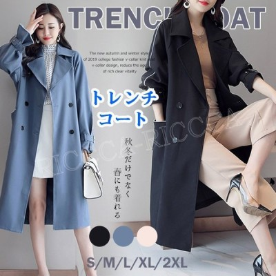 トレンチコート アウター 春 スプリングコート ベルト付き 切り替え パフスリーブ ラグラン袖 ゆったり 体型カバー 大きいサイズ 通勤 大人 30代 40代 50代