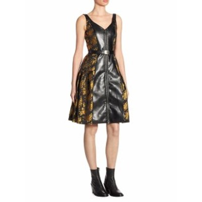 アルバータ フェレッティ レディース ワンピース Metallic Floral Dress