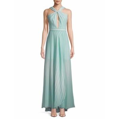 ハルストンヘリテージ レディース ワンピース Striped Twist-Front Floor-Length Gown