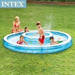 INTEX 同心圓戲水游泳池 (279*36cm) 1222L _ (57143)