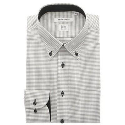 【COOL MAX】ボタンダウンカラードレスシャツ チェック 〔EC・FIT〕