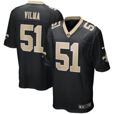 ナイキ メンズ Tシャツ トップス Jonathan Vilma New Orleans Saints Nike Game Retired Player Jersey