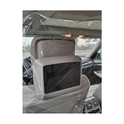 (スロウライド) 自動車 車用 仕切り 間仕切り カーテン 飛沫防止 フィルム 透明 普通車 軽自動車 セダン ミニ