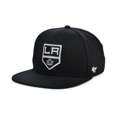 47ブランド メンズ 帽子 アクセサリー Los Angeles Kings No Shot Snapback Cap Black