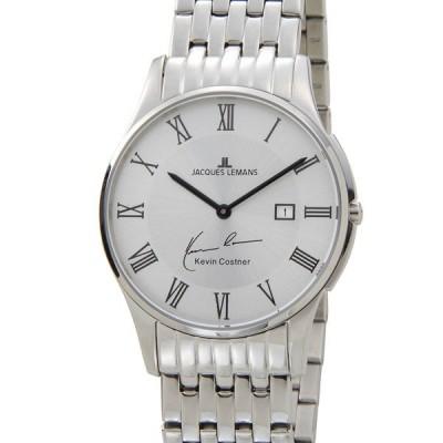 ジャックルマン 日本限定モデル メンズ 腕時計 11-1781C-1 JACQUES LEMANS ケビンコスナー・コレクション ロンドン デイト ブランド