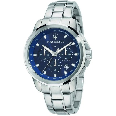 Maserati successo Mens Analog Quartz Watch with Stainless Steel Bracel