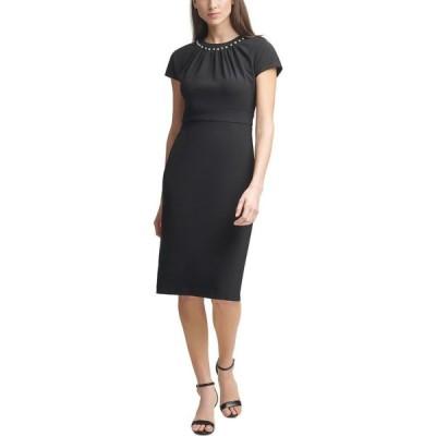 ハーパーローズ HARPER ROSE レディース ボディコンドレス タイト ワンピース・ドレス Embellished Bodycon Dress Black
