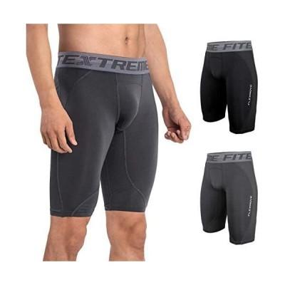 FITEX コンプレッション タイツ メンズ ショート ハーフタイツ メッシュ 吸汗速乾 スポーツタイツ ジム トレーニング
