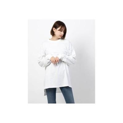 ジーラ GeeRA ビッグシルエットフットボールTシャツ (オフホワイト)