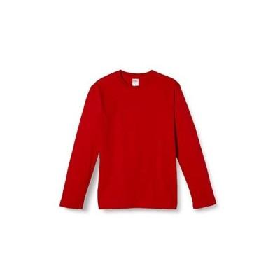 (ユナイテッドアスレ)UnitedAthle 5.6オンス ロングスリーブ Tシャツ 501001 [メンズ] (レッド L)