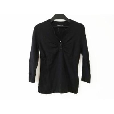 ニジュウサンク 23区 七分袖セーター サイズ38 M レディース 黒【中古】