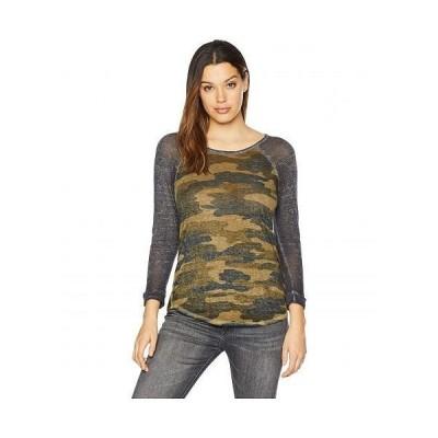 Lucky Brand ラッキーブランド レディース 女性用 ファッション Tシャツ Camo Tee - Green Multi