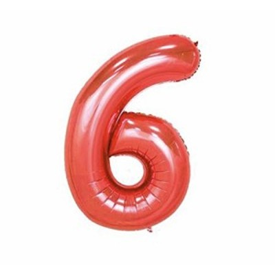 パーティーパーク アルミバルーン レッド 赤色 数字 ナンバー 0*9選べる 組み合わせ自由 約90* 誕生日 誕生会 パーティー 飾り付け (6)