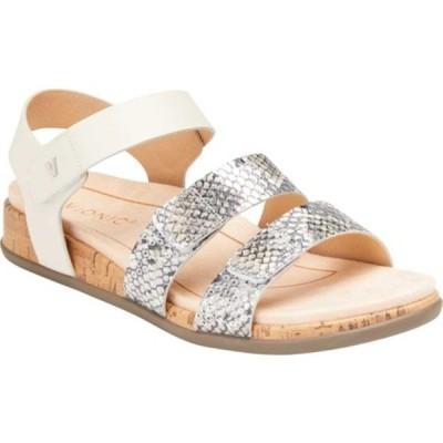 バイオニック サンダル シューズ レディース Colleen Strappy Sandal (Women's) Cream Boa Metallic Leather