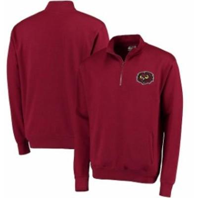 Stadium Athletic スタジアム アスレティック スポーツ用品  Temple Owls Garnet Logo Quarter-Zip Sweatshirt
