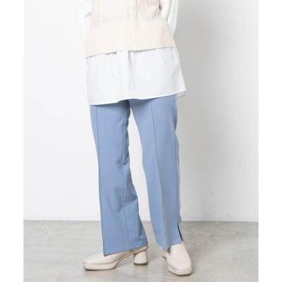 パンツ スラックス Dukkah/【低身長向け】ウエスタンバックルベルトセミフレアパンツ