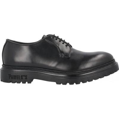 パウエルクス PAWELK'S メンズ シューズ・靴 laced shoes Black