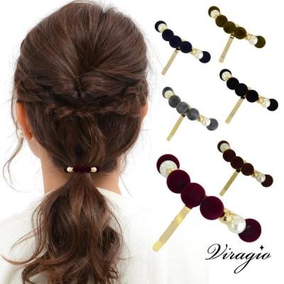 ポニーフック ヘアカフ ヘアクリップ シンプル ヘアアクセサリー ゴールド 髪留め 髪飾り パール 大人 上品 vi-1536