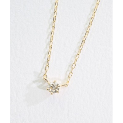 L&Co. / K10 一粒ダイヤモンド 0.05ct ネックレス WOMEN アクセサリー > ネックレス