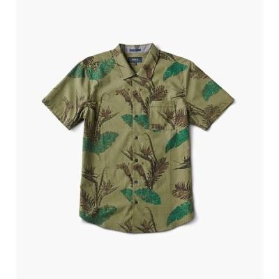 ロアークリバイバル Roark メンズ 半袖シャツ トップス Well Worn Woven Shirt Camo
